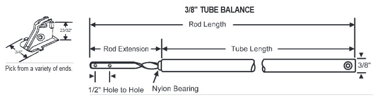 Window Spring Balance and Tube Balances