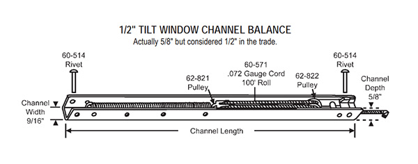 "17/"" Window Channel Balance; 1620 or 16B"
